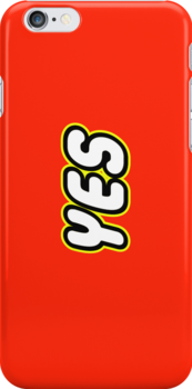 YES in brick font by Customize My Minifig by ChilleeW