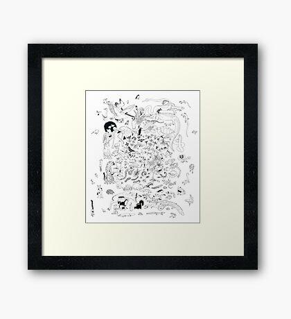 A gathering of sorts Framed Print