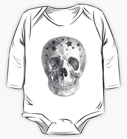 Albinus Skull 06 - Wannabe Star - White Background One Piece - Long Sleeve