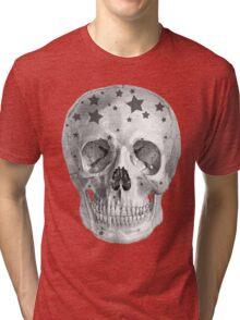 Albinus Skull 06 - Wannabe Star - White Background Tri-blend T-Shirt