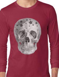 Albinus Skull 06 - Wannabe Star - Black Background Long Sleeve T-Shirt