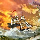 Paddle Steamer SS Savannah 1819 iPad case by Dennis Melling