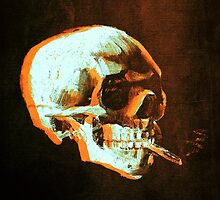 Van Gogh Skull with burning cigarette remixed 4 by filippobassano