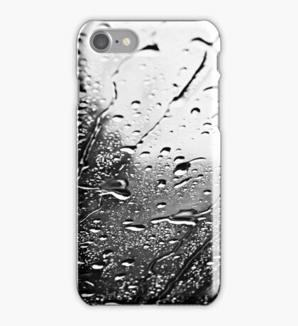 Black and White - raindrops on glass (2009) iPhone Case/Skin