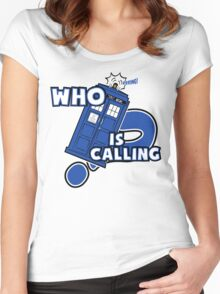 WHO is calling (?) Women's Fitted Scoop T-Shirt