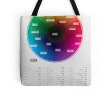 Japanese colour names cheat sheet & poster Tote Bag