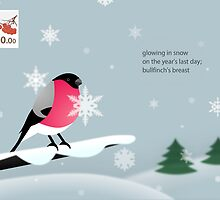 New Year's greeting card - bullfinch by Philip Seifi