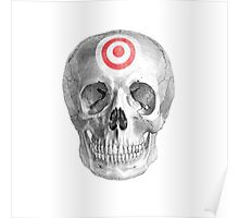 Albinus Skull 07 - Focused Mind - White Background Poster