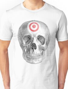 Albinus Skull 07 - Focused Mind - White Background Unisex T-Shirt