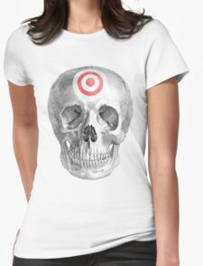 Albinus Skull 07 - Focused Mind - White Background Womens Fitted T-Shirt
