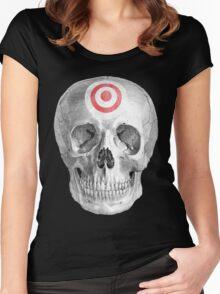 Albinus Skull 07 - Focused Mind - Black Background Women's Fitted Scoop T-Shirt
