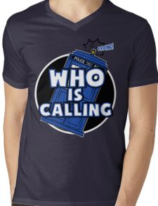 WHO IS CALLING - Vers. 2 Mens V-Neck T-Shirt