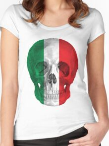 Albinus Skull 08 - Cappuccino Fairy Tale - White Background Women's Fitted Scoop T-Shirt