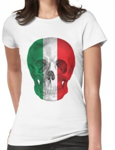 Albinus Skull 08 - Cappuccino Fairy Tale - White Background Womens Fitted T-Shirt