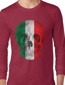Albinus Skull 08 - Cappuccino Fairy Tale - Black Background Long Sleeve T-Shirt