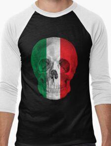 Albinus Skull 08 - Cappuccino Fairy Tale - Black Background Men's Baseball ¾ T-Shirt