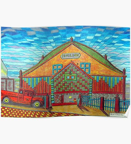377 - RHOS PAVILION - DAVE EDWARDS - COLOURED PENCILS - 2013 Poster