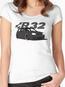 Black MKIV R32 Women's Fitted Scoop T-Shirt