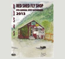Red Shed Fly Shop 9th Annual Sticker by ARMoore