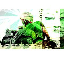 Green Buddha Photographic Print