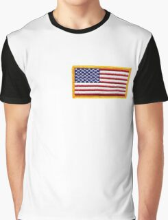 American ARMY, Flag, SMALL, Embroidered, Stars and Stripes, USA, United States, America, Military Badge Graphic T-Shirt