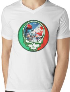 Have a holly jolly grateful Christmas.  Mens V-Neck T-Shirt