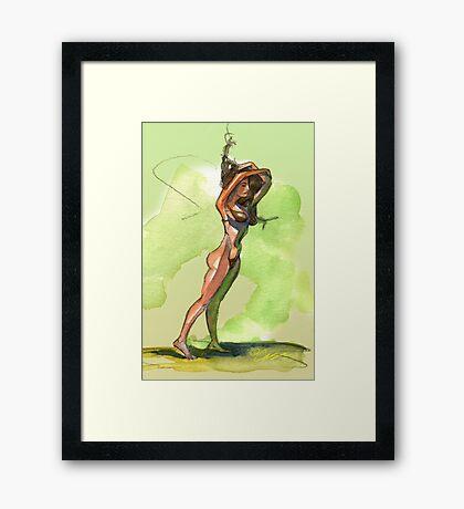 Green Ho Hum Framed Print