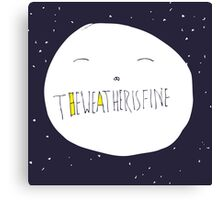 bright side of the moon Canvas Print
