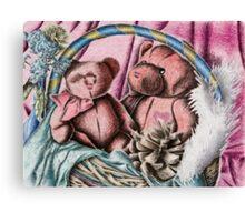Bear Basket Still Life Canvas Print