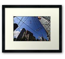 Vancouver Power Lines Framed Print