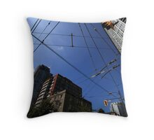 Vancouver Power Lines Throw Pillow