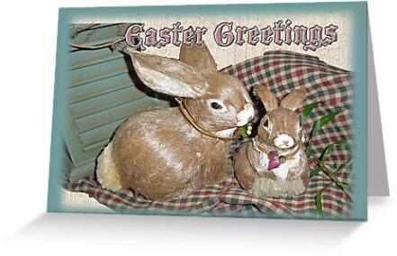 Easter Greetings - Bunnies by MotherNature