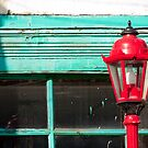 Red Street Lamp by Rae Tucker