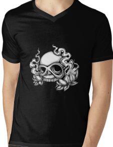Skull Tattoo Flash Mens V-Neck T-Shirt