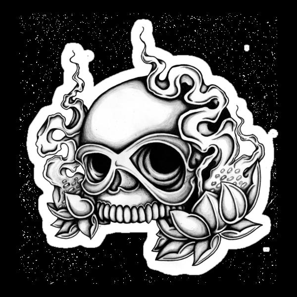 Skull Tattoo Flash by mailorderchild