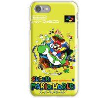 Super Mario World Nintendo Super Famicom Box Art iPhone Case/Skin