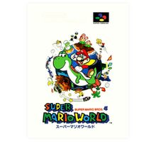 Super Mario World Nintendo Super Famicom Box Art Art Print