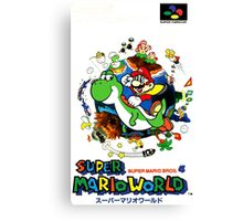 Super Mario World Nintendo Super Famicom Box Art Canvas Print