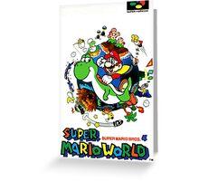 Super Mario World Nintendo Super Famicom Box Art Greeting Card