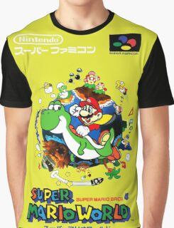 Super Mario World Nintendo Super Famicom Box Art Graphic T-Shirt
