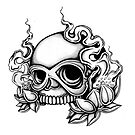 Tattoo Flash Skull Card by mailorderchild