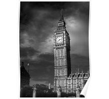 Big Ben 4 B&W Poster