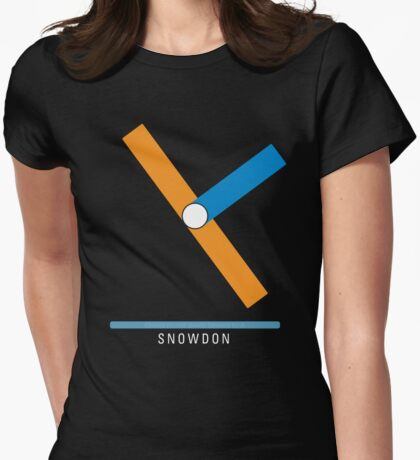 Station Snowdon Womens Fitted T-Shirt