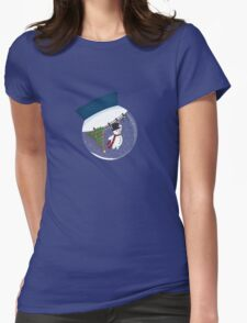 Snow Fall Womens Fitted T-Shirt