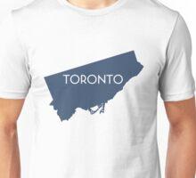 Toronto Navy Map Tee Unisex T-Shirt