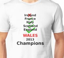 Wales 2013 rugby winners Unisex T-Shirt