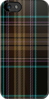 00846 West Coast Woven Mill Fashion Tartan #849-3 Fabric Print Iphone Case by Detnecs2013