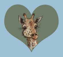Lovely Lashes Giraffe Baby Tee