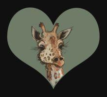 Lovely Lashes Giraffe One Piece - Short Sleeve