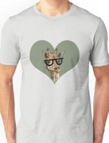 Ironic Lovely Lashes Giraffe Unisex T-Shirt